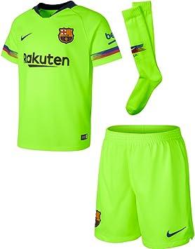 Algún día amplio banda  Nike Conjunto de Niños 2ª Equipación FC Barcelona 18/19: Amazon.es:  Deportes y aire libre