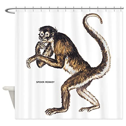 CafePress Spider Monkey Shower Curtain Decorative Fabric 69quot