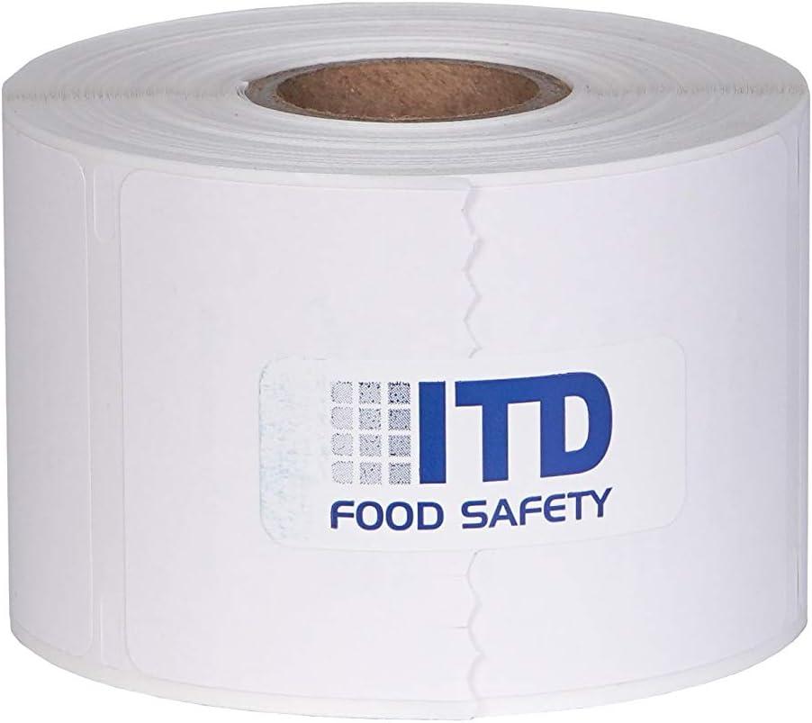 Prep-Pal Premium Peel Adhesive 2x2 Food Prep Labels 500 Labels per roll- 2 roll Pack (White)