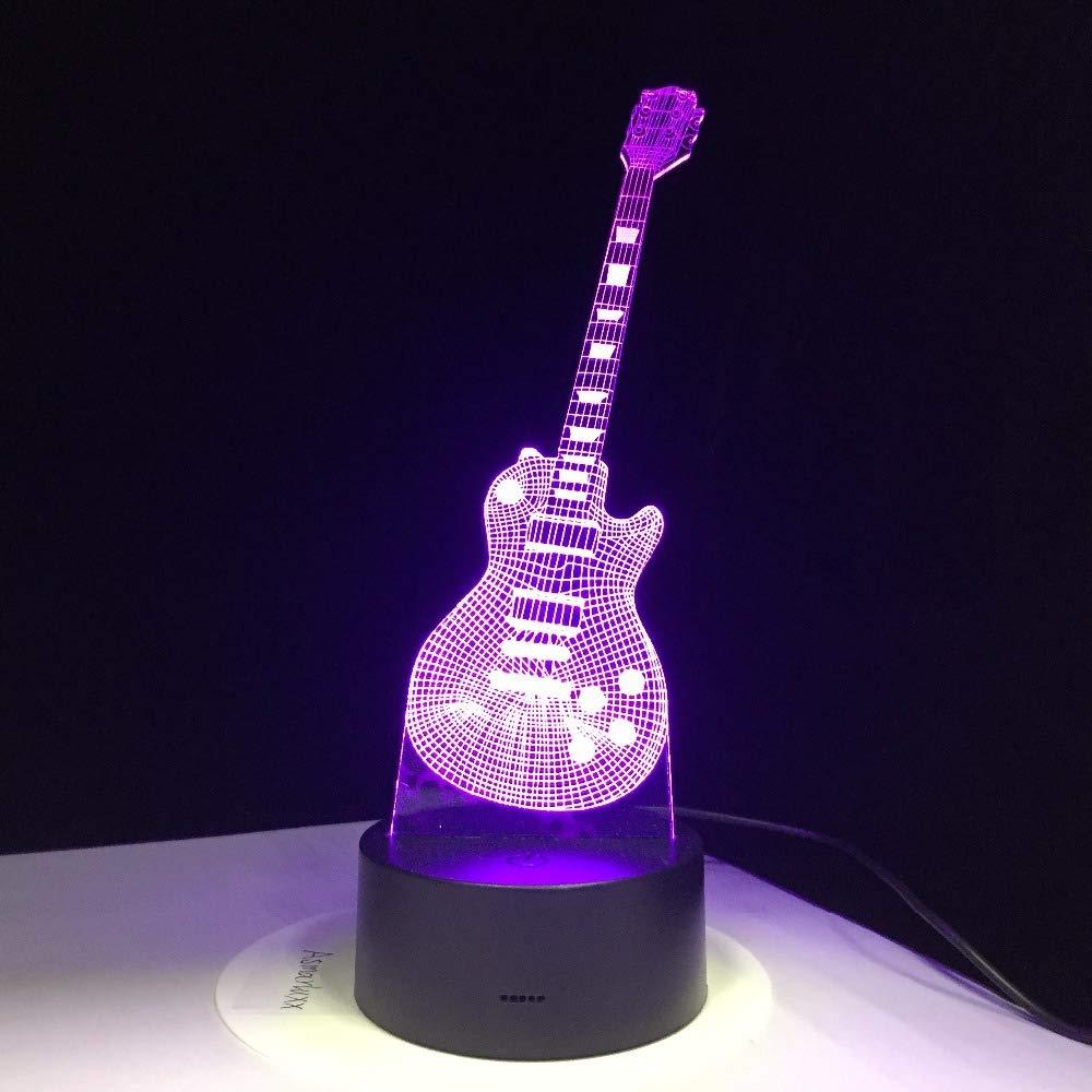 Kjfgkf @ 3D Luz Nocturna 3D Guitarra Eléctrica Led Lámpara 7 ...