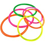Natuworld 10Pcs - Small/Medium/Large Size Assorted Colors Plastic Toss Rings for Speed and Agility Practice Games - Availabe In 3 Size