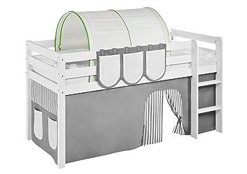 Etagenbett Lilokids : Lilokids tunnel grün beige für hochbett spielbett und