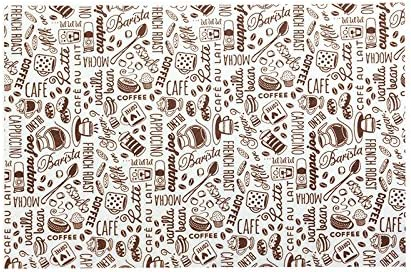 House Blend Print ST 536001 Coffee and Java Maker Mat-12-Inch x 18-Inch Charcoal