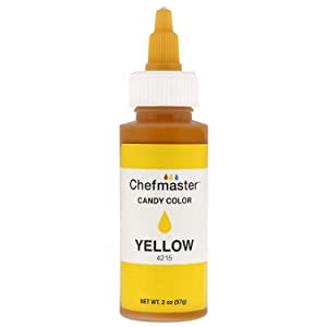 U.S. Cake Supply 2-Ounce Liquid Candy Food Color Color Yellow