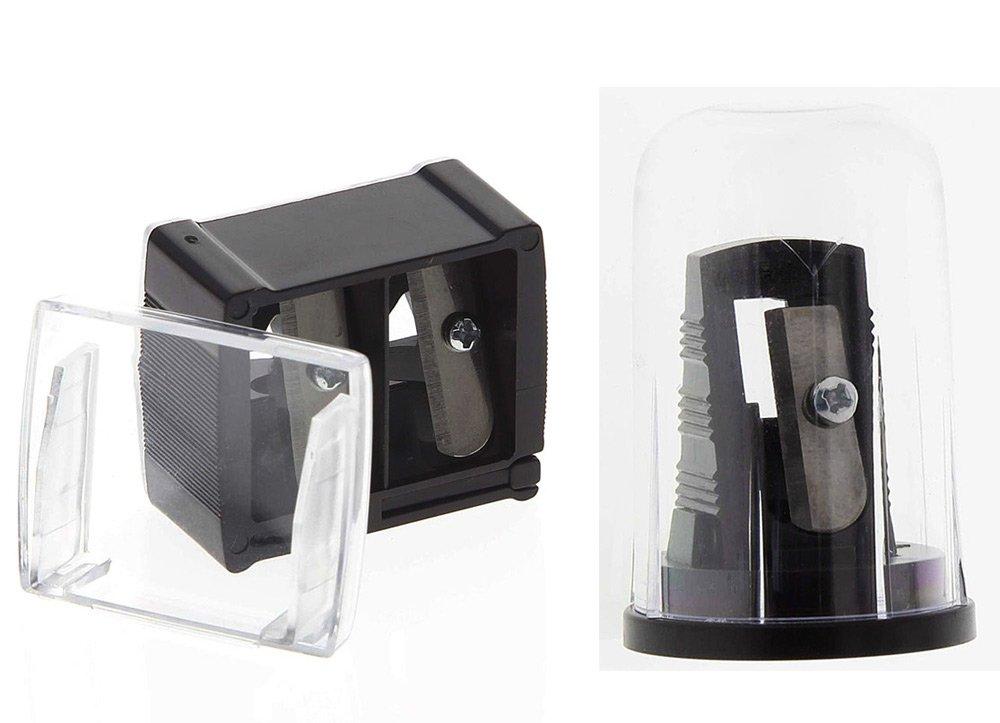 2 Kosmetex Kajalspitzer Kosmetik Spitzer für alle Stiftarten. für schmale + mittlere + breite Schminkstifte, Kajal, Camouflage, 2er Set