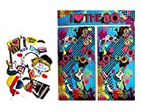 80s Party Themed Decoration Backdrop and Photo Booth Props by Express Novelties Online