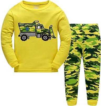 LitBud niños Pijamas Conjunto 100% algodón Dinosaurio Ropa de Dormir Pijamas Largos Pjs Conjunto tamaño para niños pequeños Reino Unido 1-7 años
