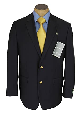 Ralph Lauren Mens 2 Button Navy Blue Wool Blazer Sport Coat Jacket ...