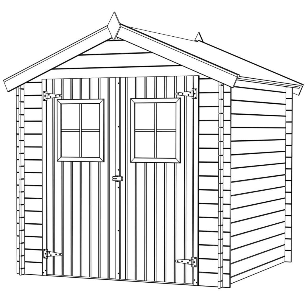 vidaXL Cabaña de Jardín de Madera de Abeto 2x2, 1 m Cobertizo de Almacenamiento: Amazon.es: Jardín