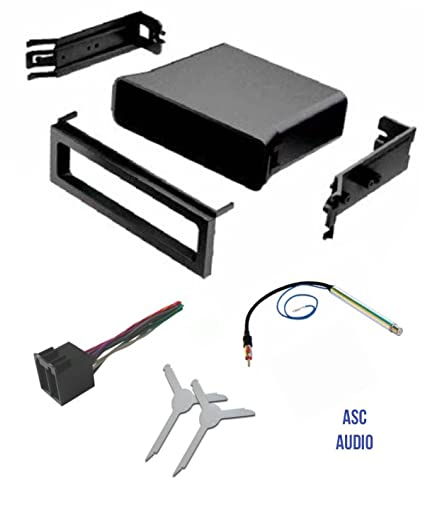 ASC Audio Car Stereo Dash Pocket Kit, Wire Harness, Antenna Adapter, on