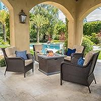 Savana 4 Piece Club Chair Set w/ Dark Br...