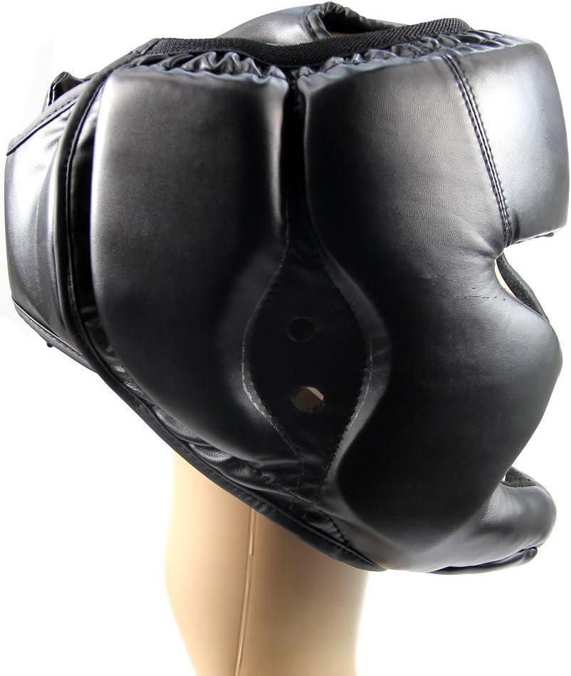 Lopbinte Sombrereria Buena Negra Guardia de Cabeza Casco de Entrenamiento Equipo de Proteccion del Boxeo Patada