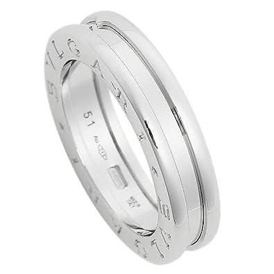 8839df076399 [ブルガリ] 指輪 リング BVLGARI RWG1BAND AN852423 ビーゼロワン ワンバンド メンズ レディース ホワイトゴールド