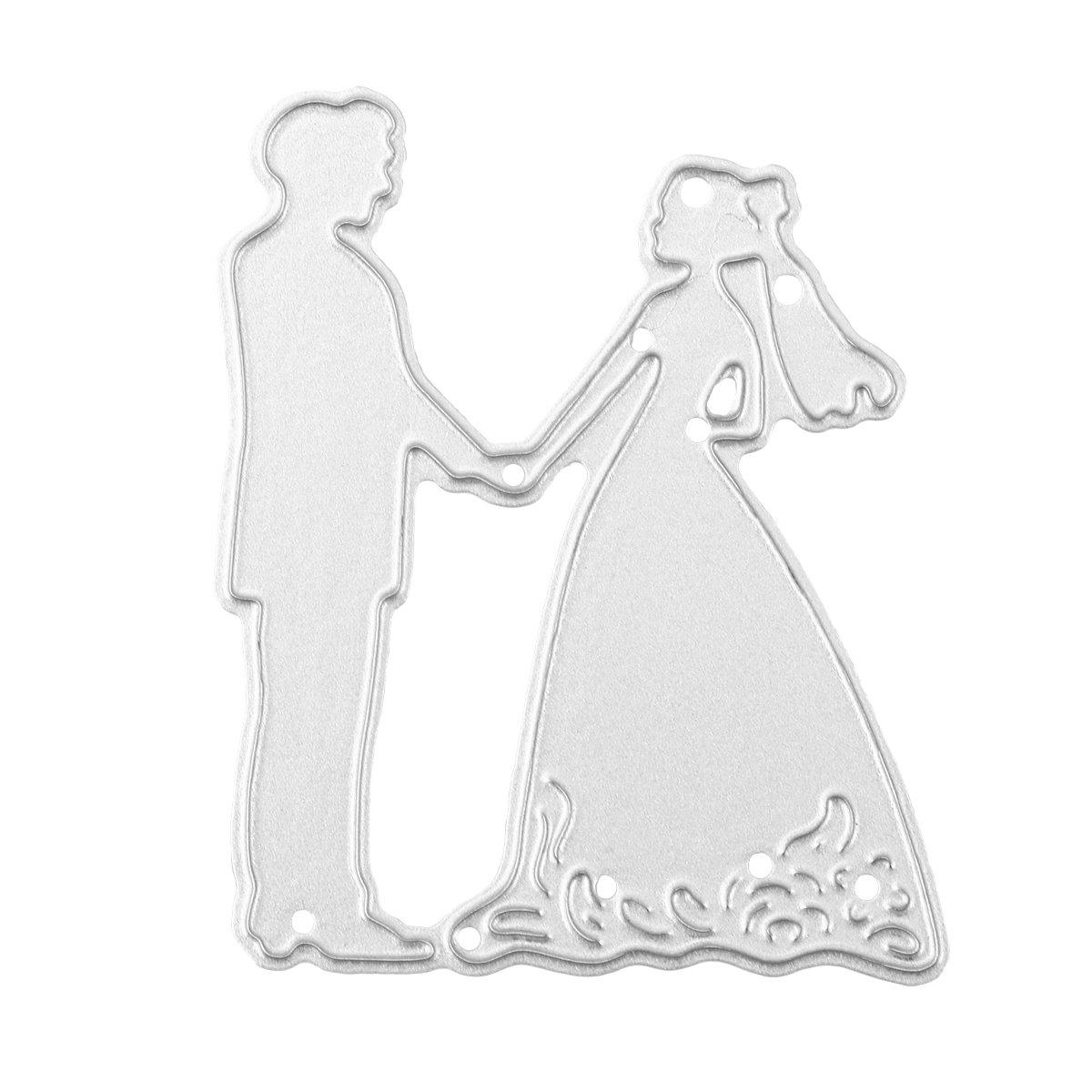 Healifty Plantillas de Troqueles de Corte de boda Novia y Novio Troqueles de Corte para DIY Scrapbooking Álbum de Bodas Arte de Papel: Amazon.es: Hogar