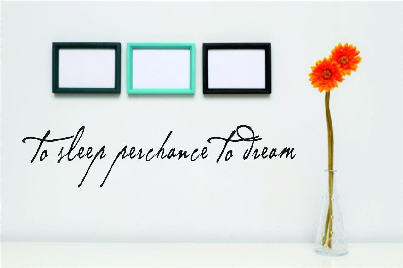 Design with Vinyl 2015 BS 201 To Sleep Perchance To Dream Text Lettering Wall Decal 5 x 20 Black