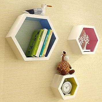Livre étagère Murale Punch Gratuit Décoration Murale Hexagon