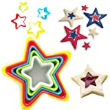 5 x Cookie Cutter Mould STAR Shape Different Size Biscuit Pastry Plastic Mold