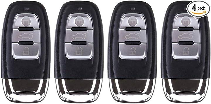 /Carcasa de mando sin llave Fob 3/Bot/ón Pad para Coche Audi Pad Pack de repuesto/