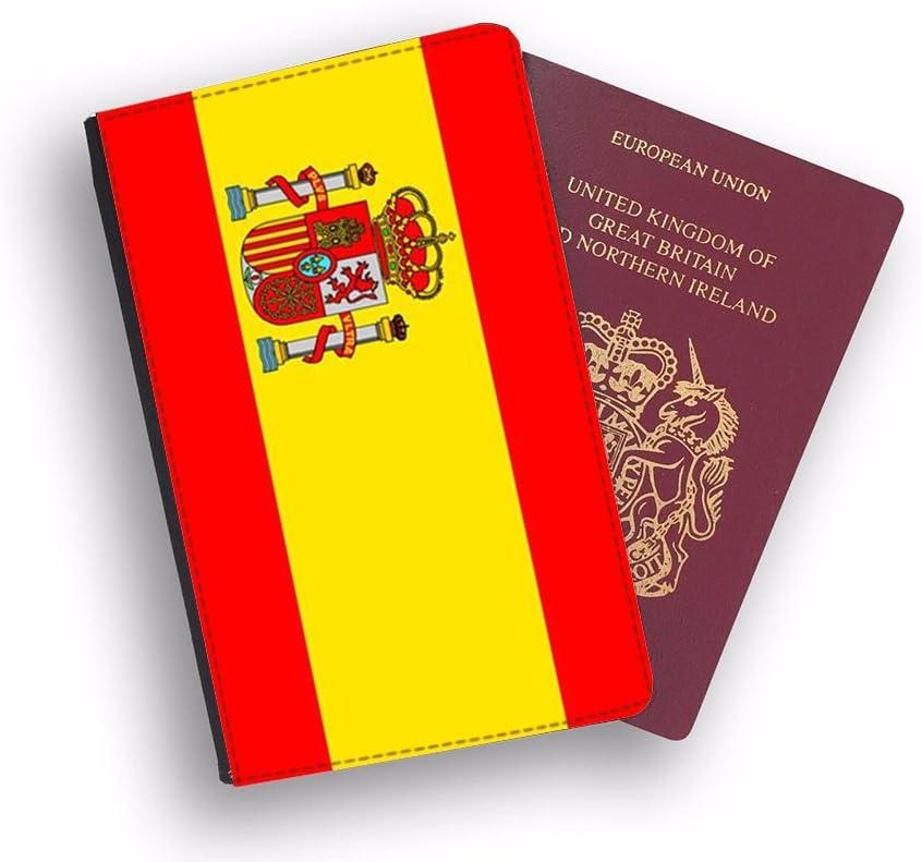 i-Tronixs - Funda para Pasaporte, diseño de Bandera de España (2 Unidades): Amazon.es: Electrónica