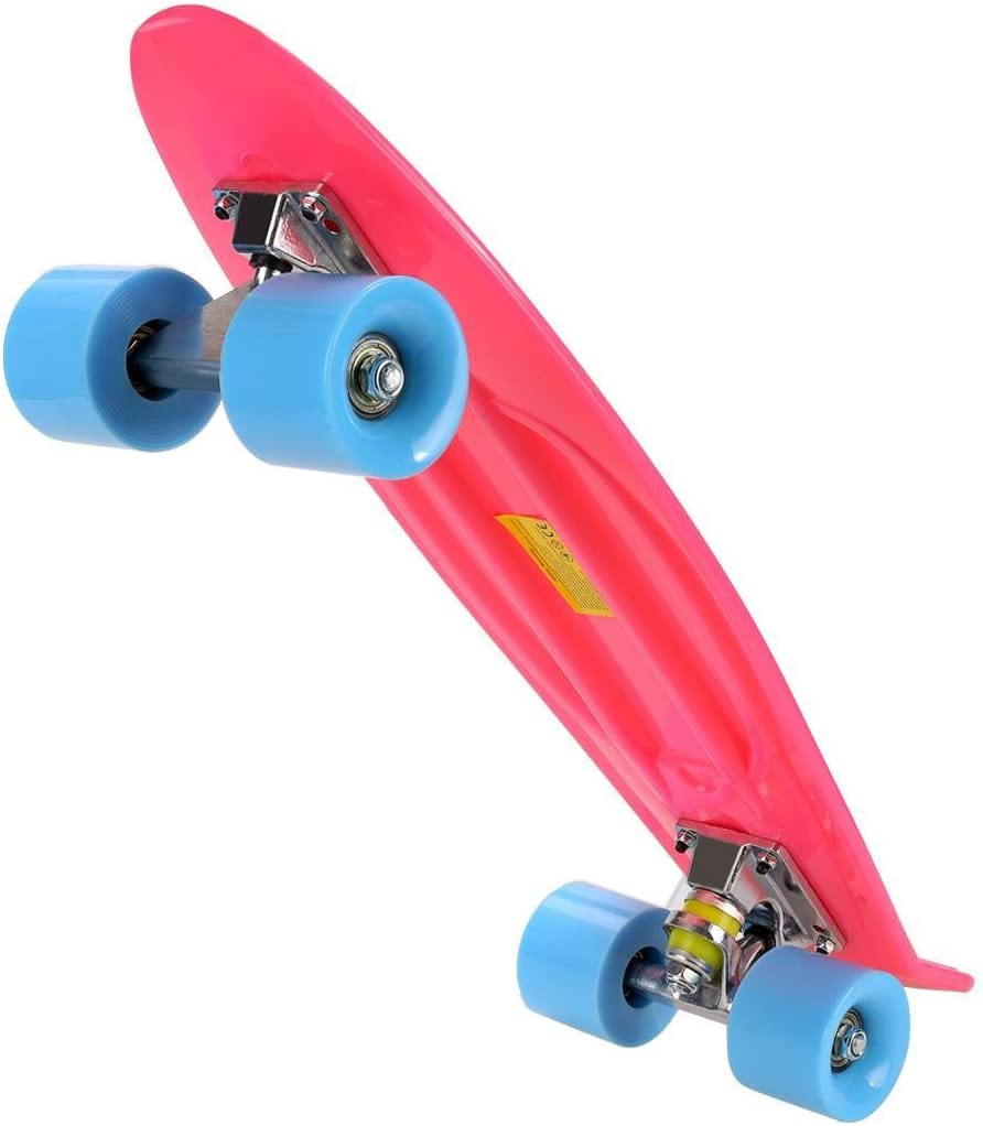 Roues de 58 mm Max Charge mymotto Unisexe Retro 22 Complet Cruiser Skateboard Roulements ABEC-7 Mini Planche 100 KG