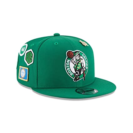 f73d67f131a Image Unavailable. Image not available for. Color  New Era Boston Celtics  2018 NBA Draft Cap 9FIFTY Snapback Adjustable Hat- Green