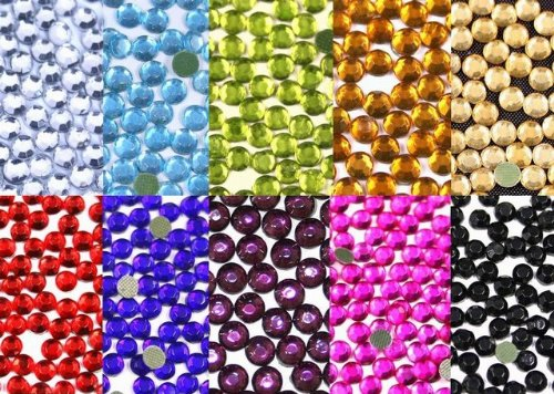 New ThreadNanny 7220 - 5mm 20ss Hot Fix Rhinestone Crystals - All 10 Colors by ThreadNanny   B001TZXOYE