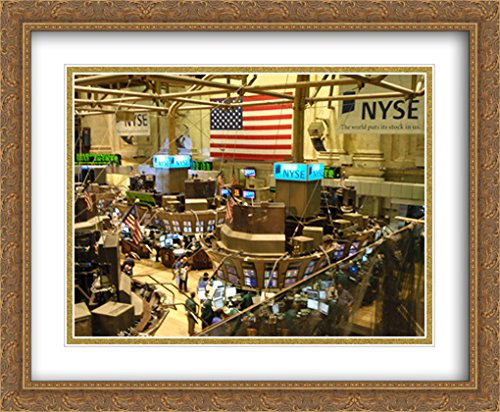 155956da NYSE New York Stock Exchange 2X Matted 34x28 Large Gold Ornate Framed Art  Print by The