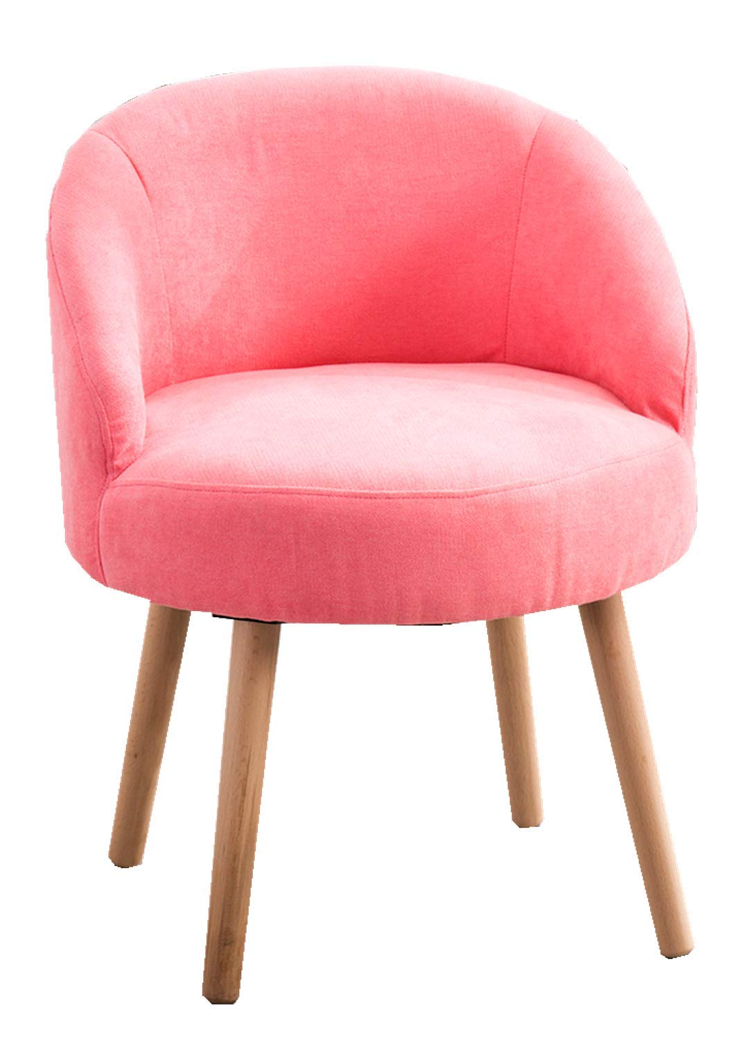 Modern Candy Pink Leisure Arm Chairs Single Couch Seat Home Garden Living Dining Room Furniture Sofa with Solid Wood Legs by DUSTIN'S
