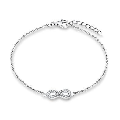 Oliver Kinder-Armband Teenager Mädchen 16+2 cm verstellbar mit Infinity-Anhänger  925 Sterling Silber Zirkonia weiß  Amazon.de  Schmuck e4b5523824