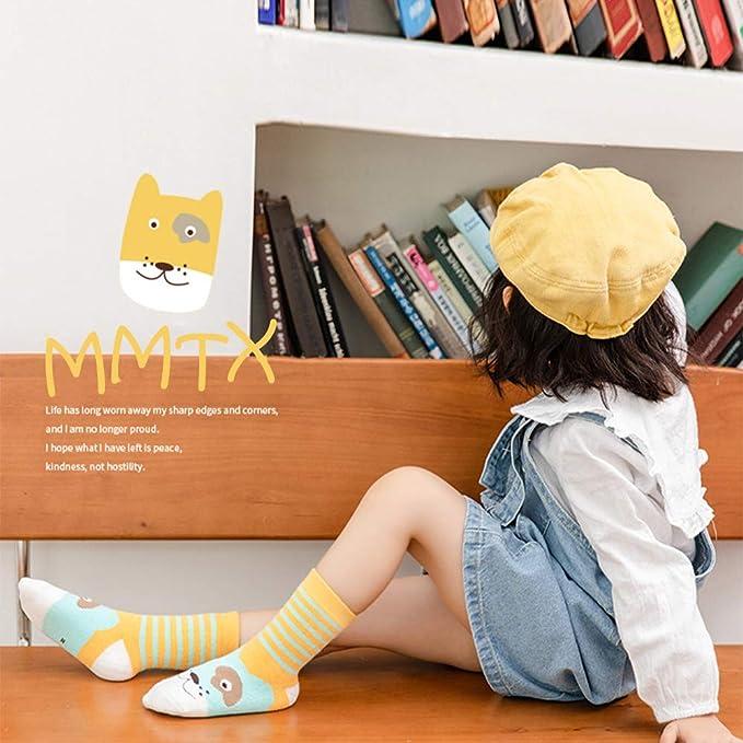 MMTX Kinder Socken Jungen W/ärme Winter Tierische Baumwoll Socken Tierische Muster Weihnachts Socken 2-11 Jahre Kleinkind Jungen /& M/ädchen L 8-11 Jahre 5 Paare