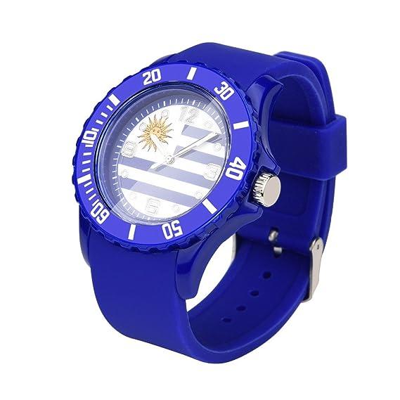 WaTime - Reloj de pulsera con diseño de fútbol con bandera del país (22 colores