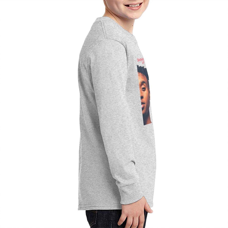 Rae Sremmurd SremmLife Cotton Youth Girls Boys Long Sleeve T Shirt Stylish Adolescent Top Gray
