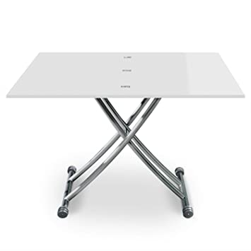 100114 Contemporain Relevable 57100 2 Cm B2219s Table 3 Basse Carrera Menzzo Laqué Boisinox Blanc X 3976 oBeCxQrdWE