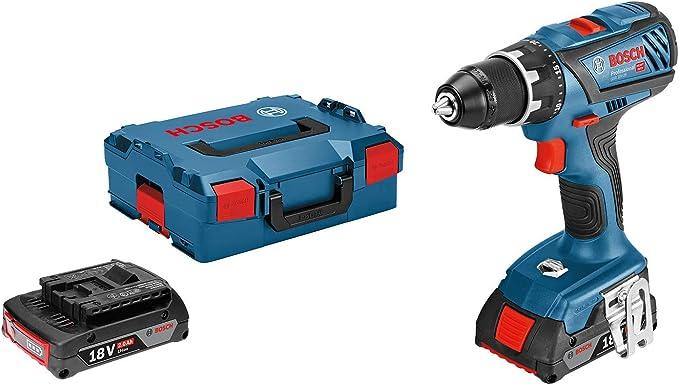 Bosch Professional 18V System GSR 18V-28 - Atornillador a batería (63 Nm, 2 baterías x 2,0 Ah, en L-BOXX): Amazon.es: Bricolaje y herramientas