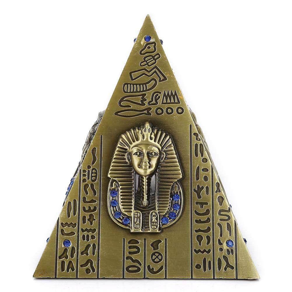 Hztyyier Pyramide /égyptienne M/étal Mod/èle de Pyramide en Bronze Galvanoplastie Souvenir de Voyage d/élicat Tirelire