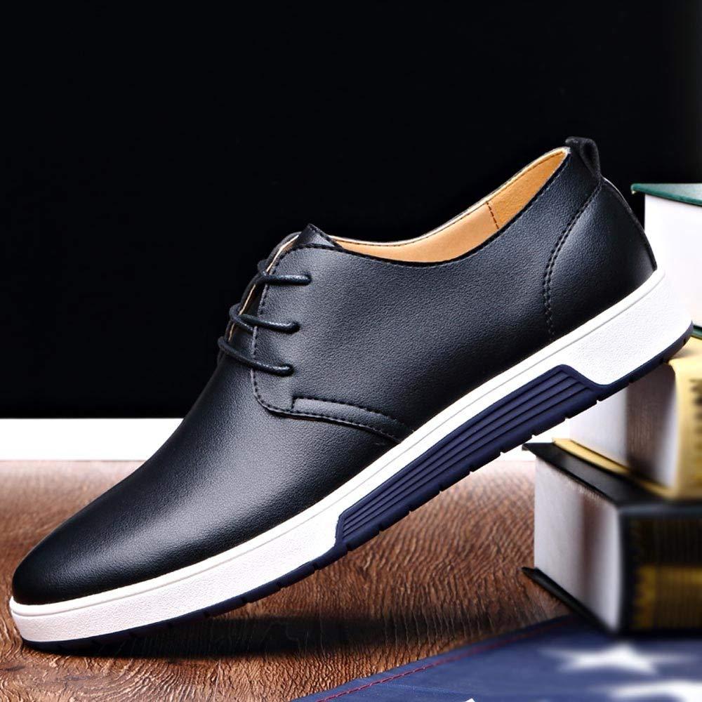 Ansenesna Schuhe Herren Business Blau Leder Anzug Anzug Anzug Flach Elegant Freizeitschuhe Zum Schnüren Mode Vintage Für Männer B07HF42NXB Reinigungs- & Putztücher fde4be