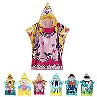 NEWCOSPLAY Infant Kids Animal Design Hooded Bath/Beach Poncho Towel