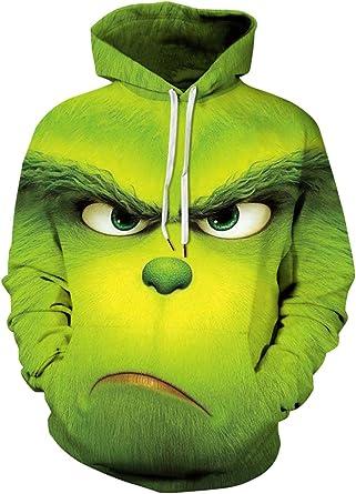 Chaos World Christmas Sweat à Capuche Homme Manche Longue 3D Impression Sweat Shirt Pull Automne Hiver Garçon