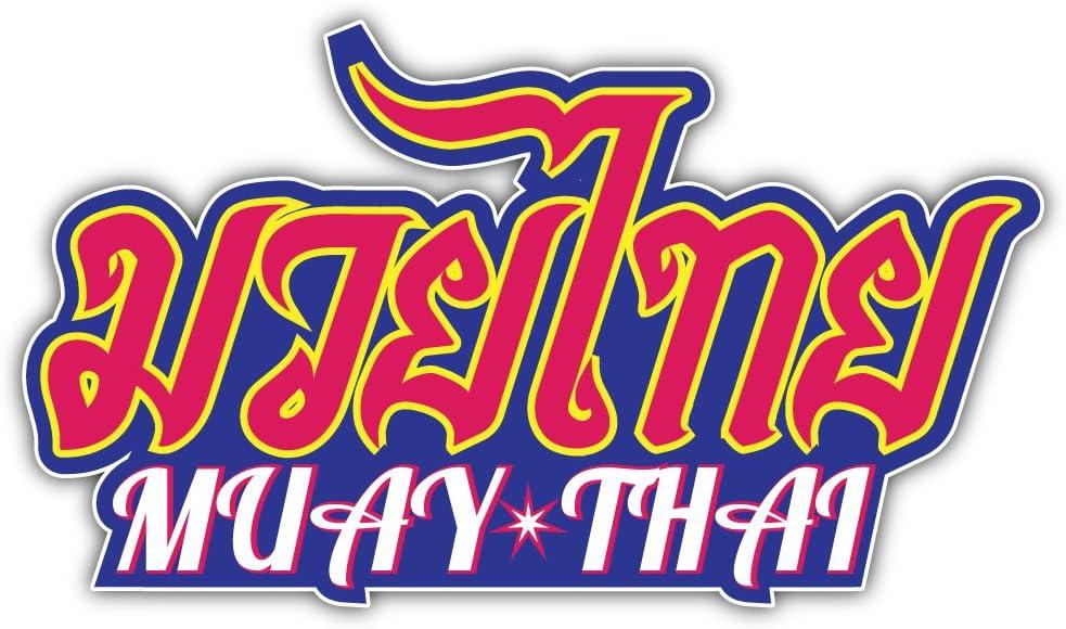 Muay Thai Thai Boxing Style Bumper Sticker Vinyl Art Decal for Car Truck Van Window Bike Laptop