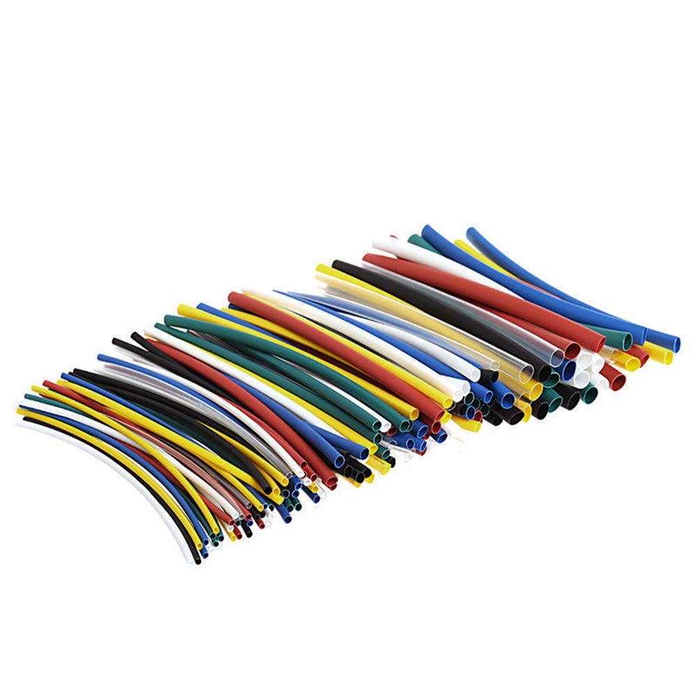 Tulas 140 Pcs/Set 1-5mm Assorted 2:1 Heat Shrink Tubing Sleeving Wrap Electrical Wire Cable Kit