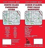 Coeur d Alene / Post Falls / Sandpoint , Idaho Street Map
