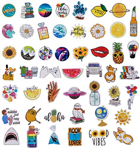 [해외]Roberly Cute Stickers Decals for Water Bottles 50 Pack Water Bottle Stickers Computer Stickers MacBook Guitar Computer iPhone iPad Luggage Stickers for Teen Girls / Roberly Cute Stickers Decals for Water Bottles, 50 Pack Water Bott...