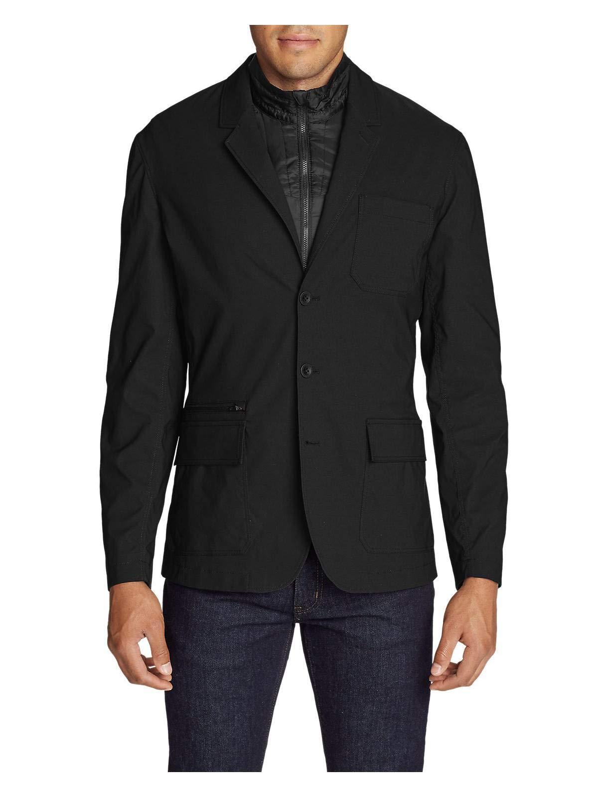 Eddie Bauer Men's Voyager 3-in-1 Jacket, Black Regular 44