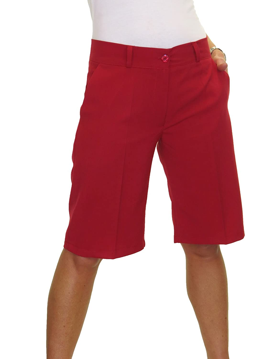 ICE (1492) Ladies Smart Washable Day Evening Tailored Shorts