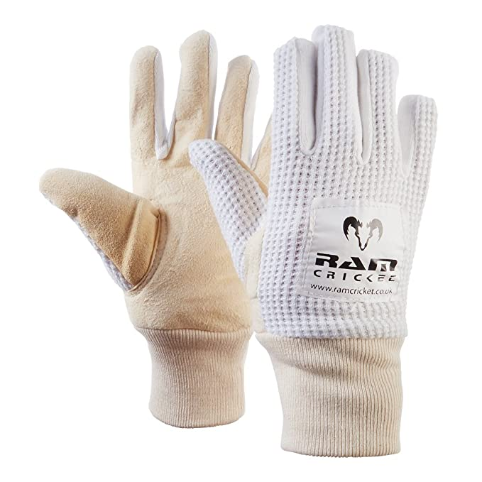 RAM Cricket Wicket Handschuhe/ /sehr anschmiegsames Leder mit Saugnapf-Grip/ /Erh/ältlich in 4/Gr/ö/ßen /optional Innere Handschuhe/