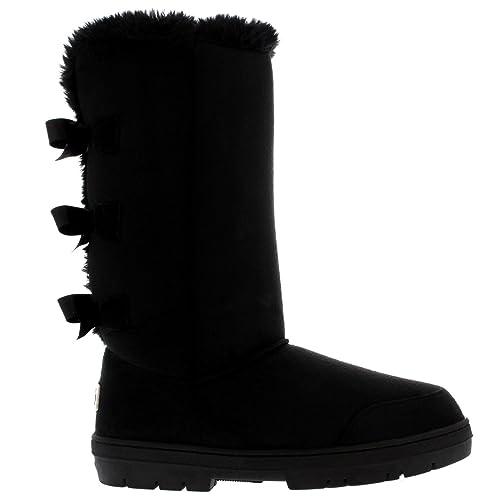 4dd67284b Mujer Triplet Bow Tall Classic Fur Impermeable Invierno Rain Nieve Botas   Amazon.es  Zapatos y complementos