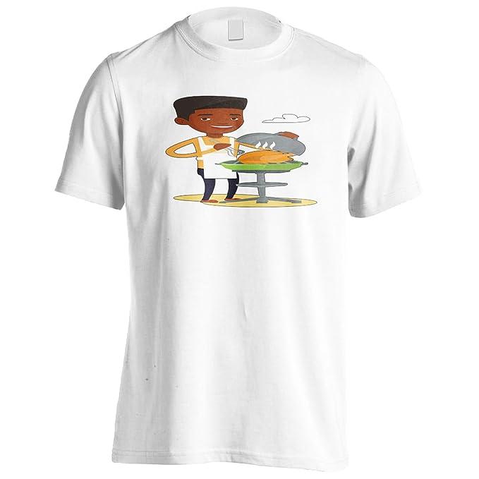 Parrilla De Barbacoa De Pollo Camiseta de los hombres q428m: Amazon.es: Ropa y accesorios
