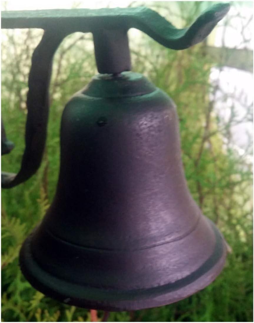 Grande hierro fundido puerta Bell Timbre con correa de piel