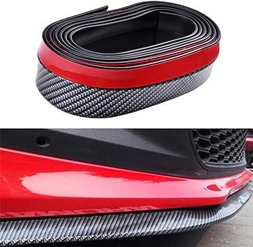 Keyzone 2 5m Auto Kohlefaser Universal Vorne Spoilerlippe Stoßfänger Gummi Spoiler Flügel Aufkleber Auto