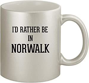 I'd Rather Be In NORWALK - Ceramic 11oz Silver Coffee Mug, Silver